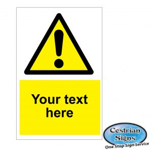 Your text here hazard safety signs