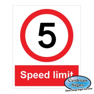 Speed Limit Site Safety Signs