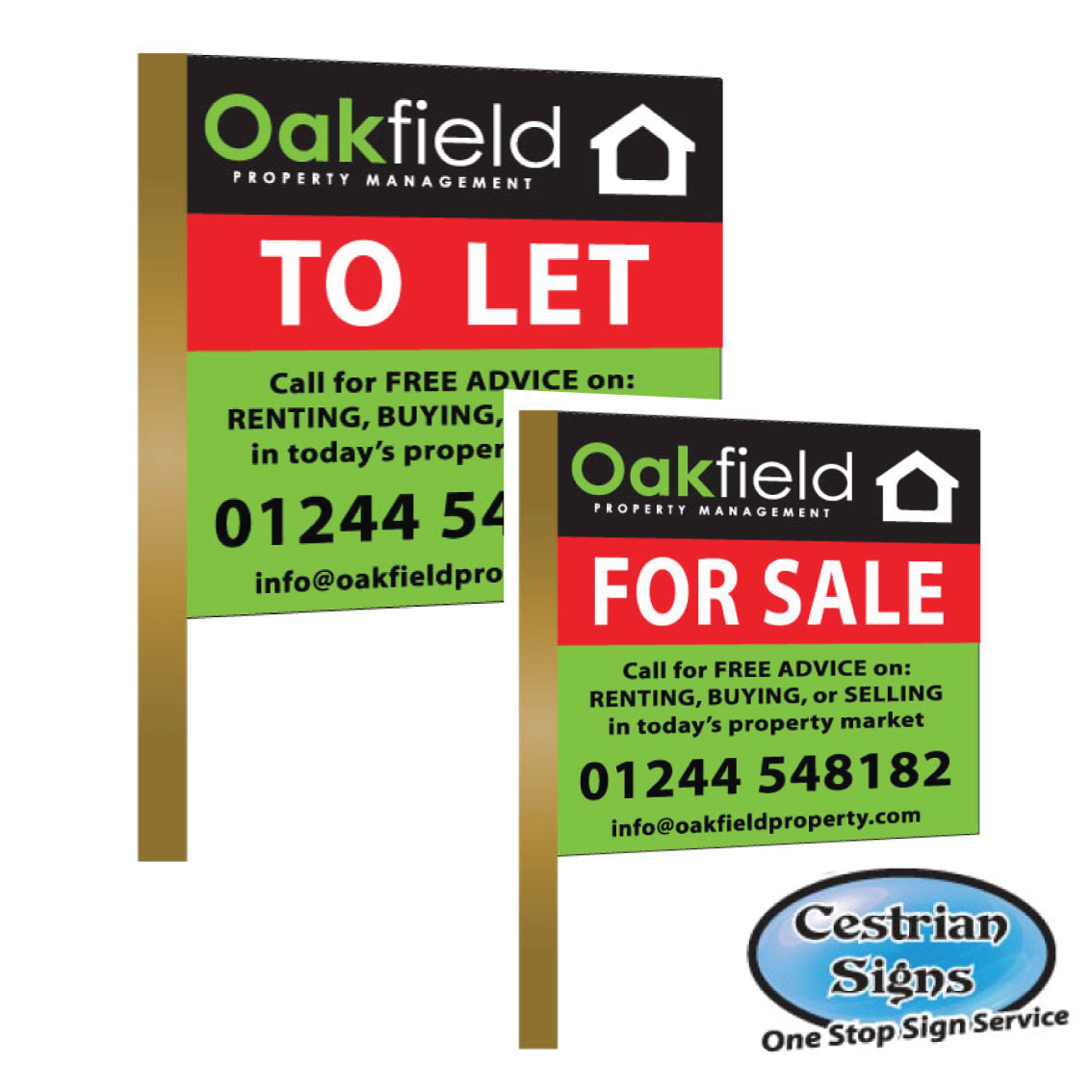 For Sale and To Let Signs