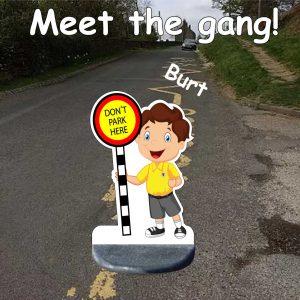 School No Parking Pavement Sign Burt