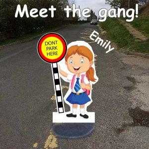 School No Parking Pavement Sign Emily