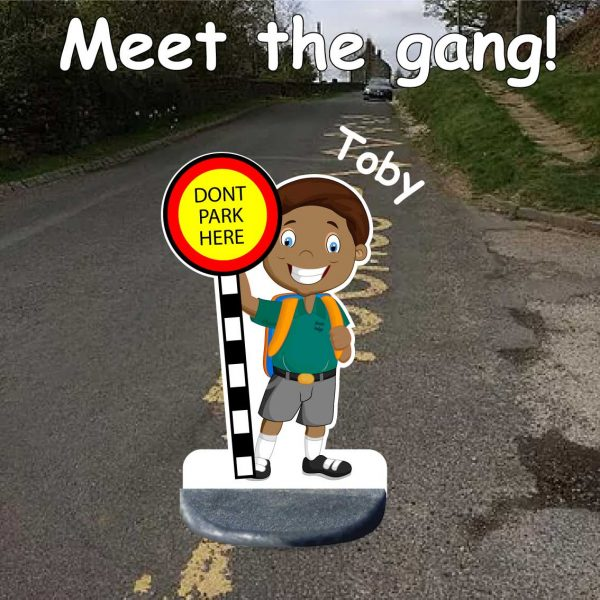 School No Parking Pavement Sign toby