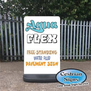 Aqua-Flex Water Filled Pavement Sign