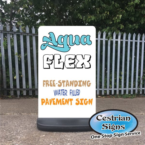 Aqua-Flex Water Filled Pavement Sign