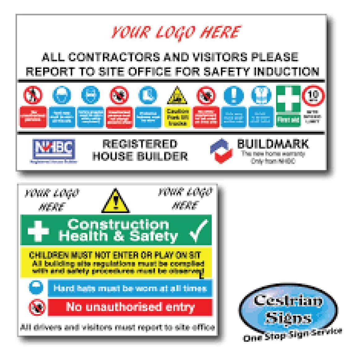 Construction Site Entrance Multi Signs