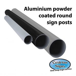 Powder coated aluminium posts and poles