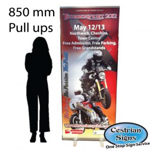 Pull up Banners 850 mm Wide