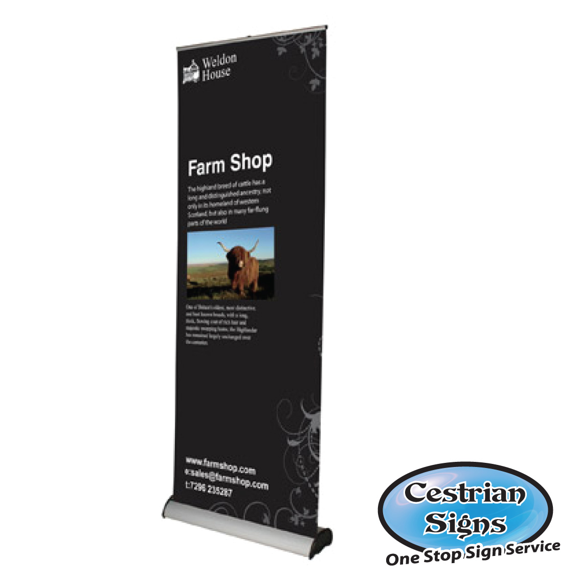 Pull up Banners 900 mm Wide