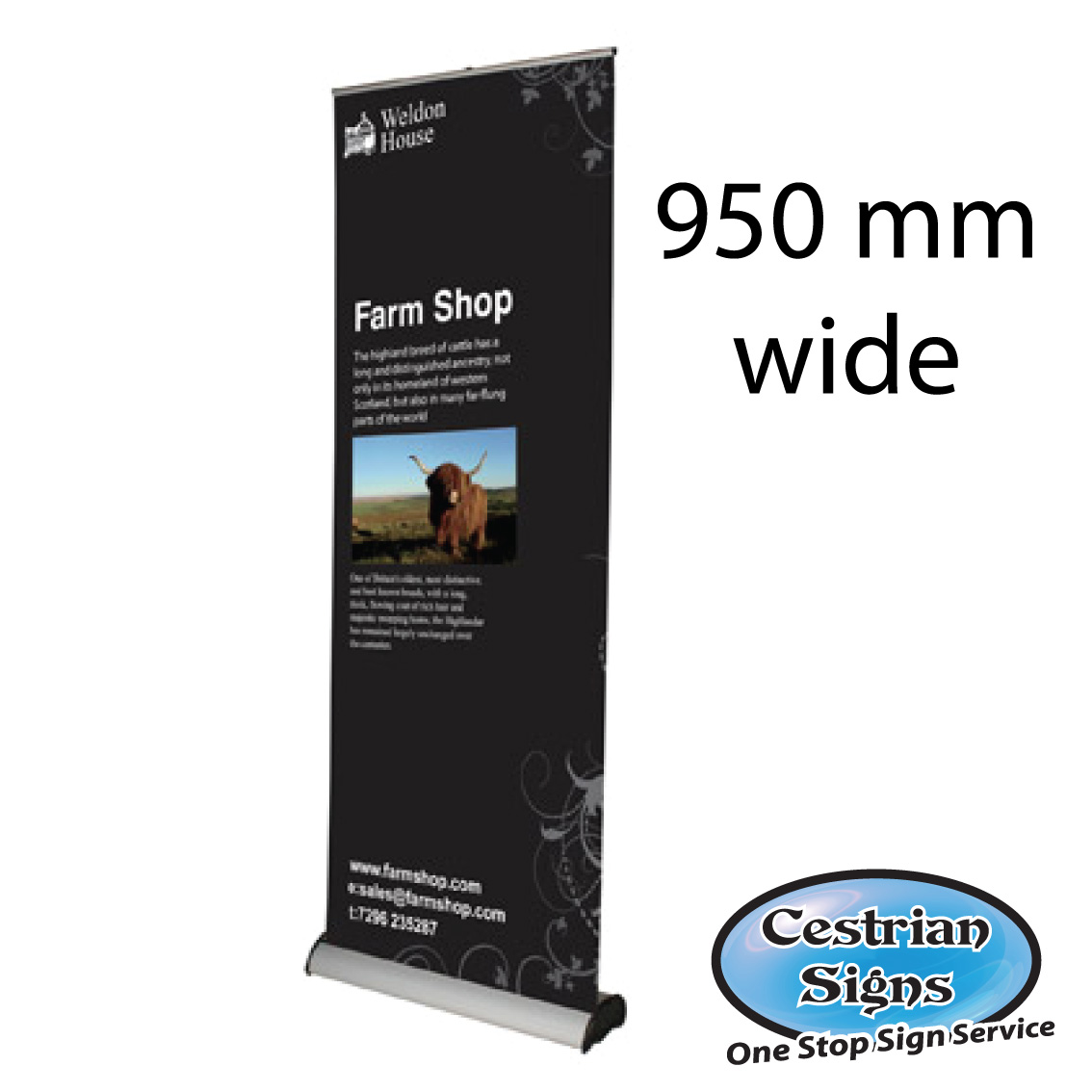 Pull up Banners 950 mm Wide