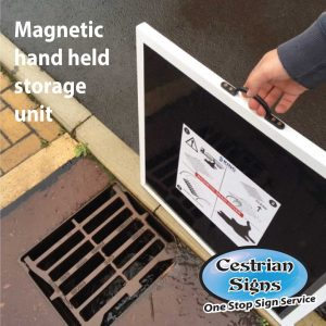 Magnetic-hand-held-storage-unit