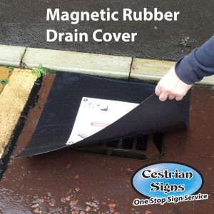 Magnetic rubber drain cover