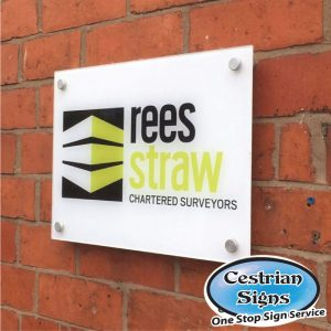 Reverse Printed Perspex and Aluminium Office Signs