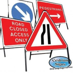 Freestanding Metal Traffic and Road Signs