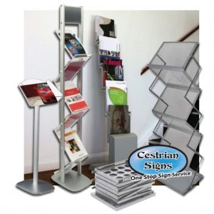 Menu and Brochure Display Stands