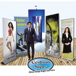 Pull up banner displays