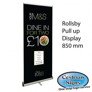 Rollsby pull up display 850mm