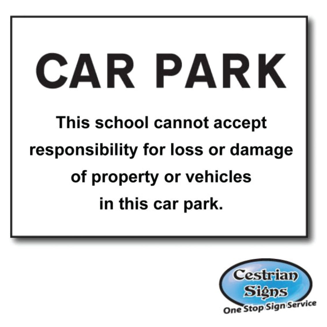 School Disclaimer signs