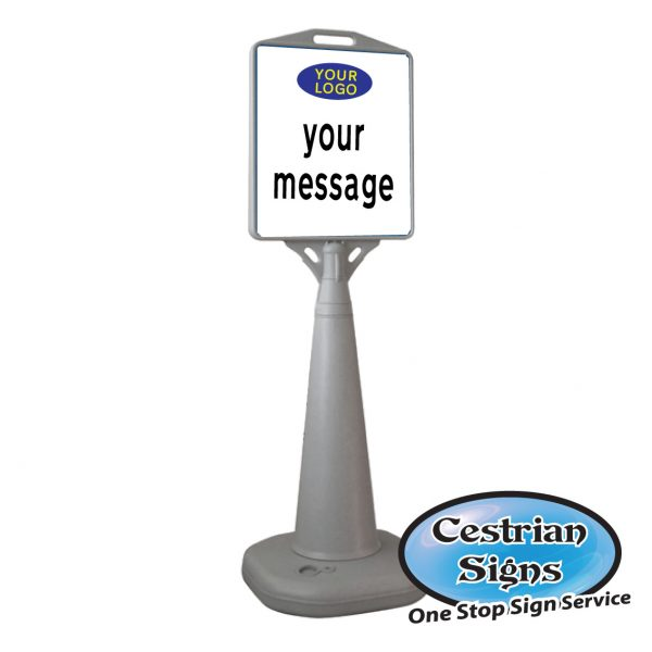 Water based pyramid sign your customised message