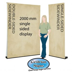 sidewinder single sided- oller banner 2000 mm