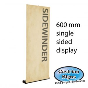 sidewinder single sided roller banner 600 mm