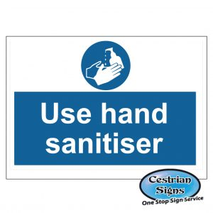 Use hand sanitiser signs 600 x 400mm