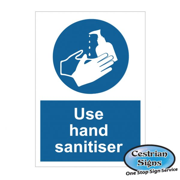 Use hand sanitiser stickers