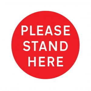 Please stand here factory floor stickers