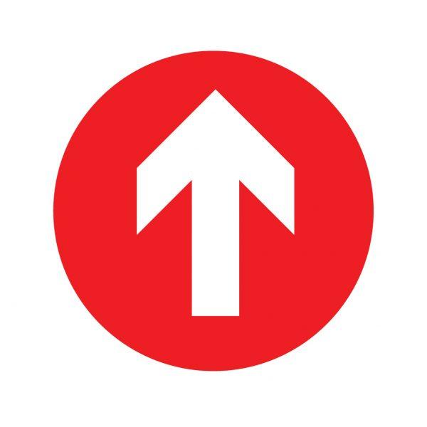 one way shop factory floor sticker
