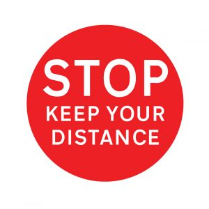 stop keep your distance factory floor stickers