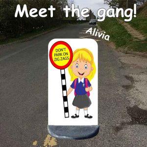 No parking school sign alivia