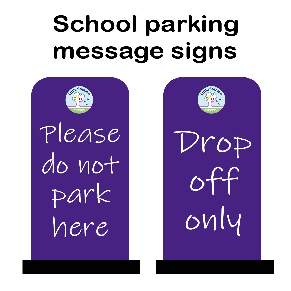 School parking message signs