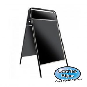 Metal A board Pavement Sign Black with Header 20 x 30