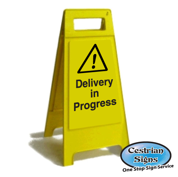 Delivery in Progress Sign