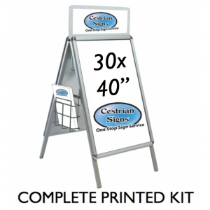 a-master a-board pavement sign with header