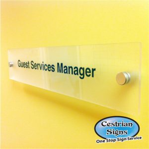 Printed Perspex Office Name Plate Sign