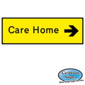 Care Home directional sign Right small