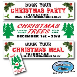 Banner Printing and Pre-Designed Seasonal Banners and Signs