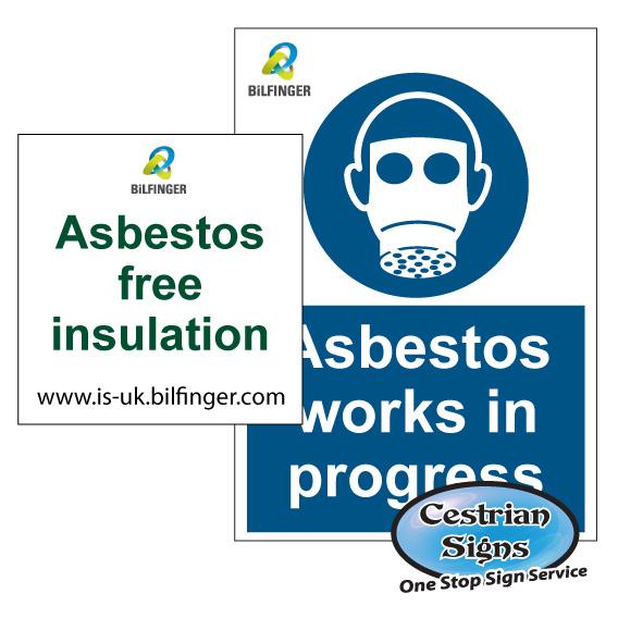 BiLFINGER asbestos labels