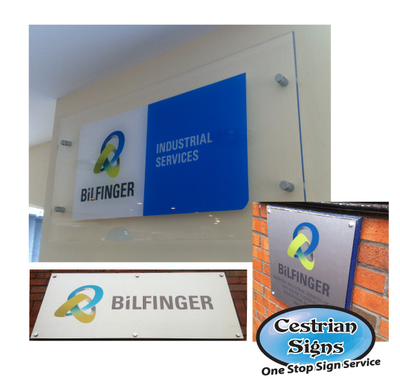 BiLFINGER Office Signs