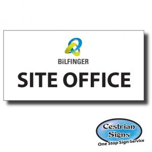 BiLFINGER General Site Signs