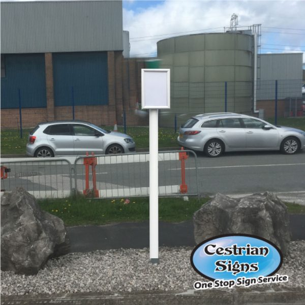 Car Park Sign with Changeable Sign