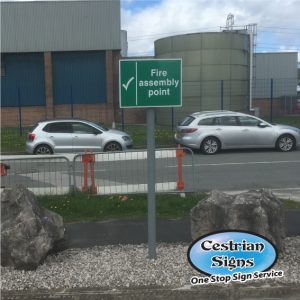 fire assembly point car park sign