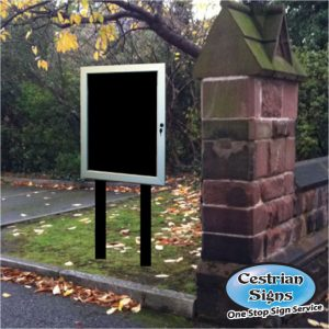 free standing External Notice Board