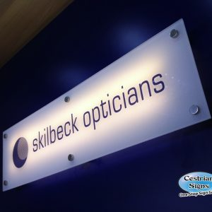 Commercial Backlit Office Sign