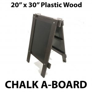 20 x 30 inch plastic wood a board sign