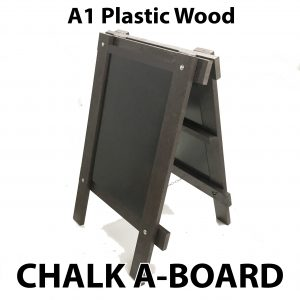a1 plastic wood chalk a board sign