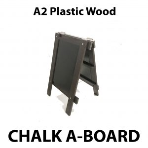 a2 plastic wood chalk a board sign