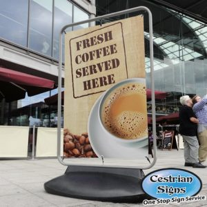 Sentinel Forecourt Banner Stand Sign Small