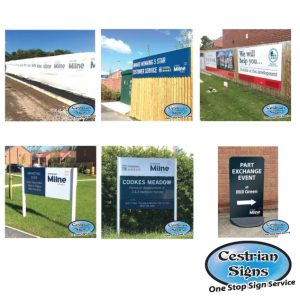 New Housing Development Signs and Flags