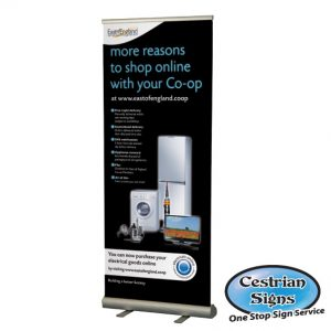 SMART Commercial Roll-up Banner Stand 1000mm Single Sided